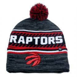 TORONTO RAPTORS -  POM BEANIE - GREY/RED/WHITE