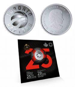 TORONTO RAPTORS -  TORONTO RAPTORS 25TH SEASON -  2020 CANADIAN COINS