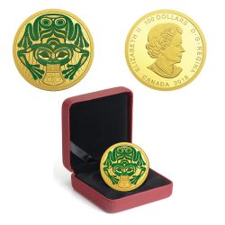 TRADITIONAL ARTS -  FROG REVEALS A GIFT -  2018 CANADIAN COINS 02