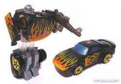 TRANSFORMERS -  HOTSHOT (ROBOTS IN DISGUISE - 2002) SPY CHANGER