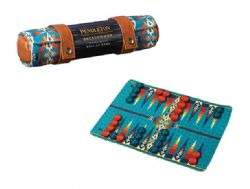 TRAVEL-READY ROLL-UP GAME -  PENDLETON BACKGAMMON