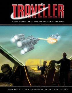 TRAVELLER -  FIRE ON THE SINDALIAN MAIN (ENGLISH) -  NAVAL ADVENTURE 3