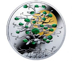 TREE OF LUCK -  MALACHITE -  2017 MINT OF POLAND COINS 02