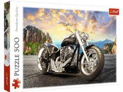 TREFL -  BLACK MOTORCYCLE (500 PIECES)