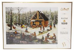 TREFL -  WINTER AT THE LOG CABIN (1000 PIECES)