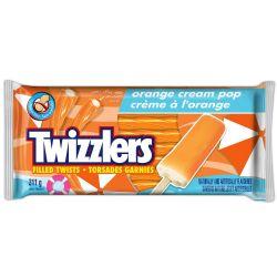 TWIZZLERS -  LICORICE CANDY FILLEDWITH ORANGE CREAM POP
