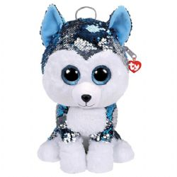 TY FASHION -  SEQUIN BACKPACK OF SLUSH THE HUSKY  (10.5