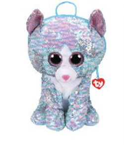 TY FASHION -  SEQUIN BACKPACK OF WHIMSY THE CAT  (10.5