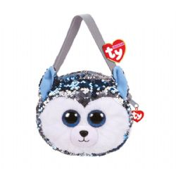 TY FASHION -  SEQUIN HANDBAG OF SLUSH THE HUSKY