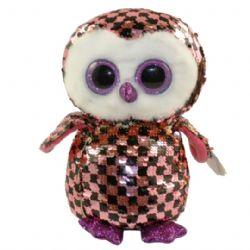 TY FLIPPABLES -  CHECKS THE OWL (6,5