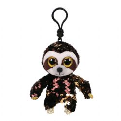 TY FLIPPABLES -  KEYCHAIN OF DANGLER THE SLOTH (3.5