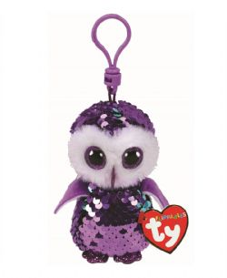 TY FLIPPABLES -  KEYCHAIN OF MOONLIGHT THE OWL(3.5