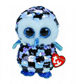 TY FLIPPABLES -  TOPPER THE OWL (6