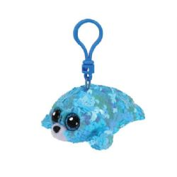 TY FLIPPABLES -  WAVES THE SEAL KEYCHAIN (4,5