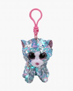 TY FLIPPABLES -  WHIMSY THE CAT KEYCHAIN (4