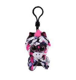 TY FLIPPABLES -  ZOEY THE CAT SEQUIN KEYCHAIN (4.5