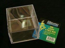 ULTRA PRO -  200 COUNTS 2 PIECES PLASTIC BOX