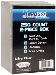 ULTRA PRO -  250 COUNTS 2 PIECES PLASTIQUE BOX