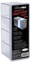 ULTRA PRO -  4 COMPARTMENT PLASTIC BOX