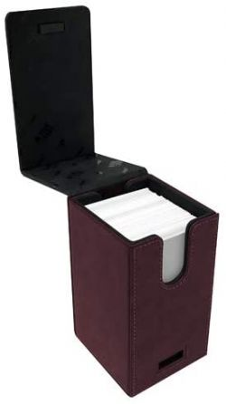 ULTRA PRO -  SUEDE COLLECTION ALCOVE TOWER - RUBY (100)