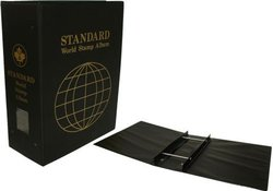 UNI-SAFE -  3 1/2 WORLD STAMPS STANDARD BINDER BLACK