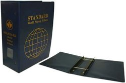 UNI-SAFE -  3 1/2 WORLD STAMPS STANDARD BINDER BLUE