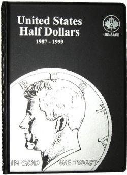 UNI-SAFE ALBUMS -  BLACK ALBUM FOR UNITED STATES HALF DOLLARS (1987-1999)