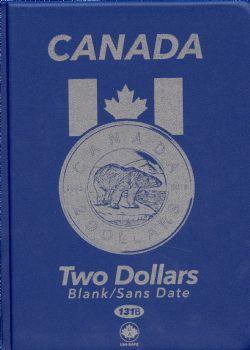 UNI-SAFE ALBUMS -  BLUE ALBUM FOR CANADIAN 2-DOLLAR (BLANK)