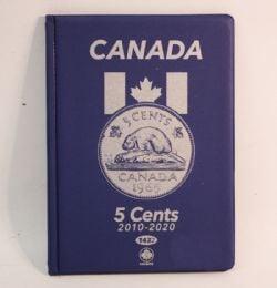 UNI-SAFE ALBUMS -  BLUE ALBUM FOR CANADIAN 5-CENT (2010-DATE)
