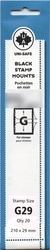 UNI-SAFE -  BLACK STAMP MOUNTS G29 (PACK OF 20)
