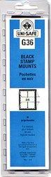 UNI-SAFE -  BLACK STAMP MOUNTS G36 (PACK OF 20)