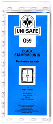 UNI-SAFE -  BLACK STAMP MOUNTS G59 (PACK OF 10)