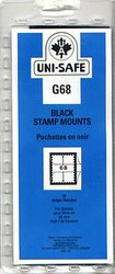 UNI-SAFE -  BLACK STAMP MOUNTS G68 (PACK OF 10)