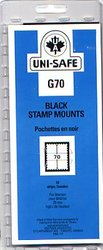 UNI-SAFE -  BLACK STAMP MOUNTS G70 (PACK OF 10)
