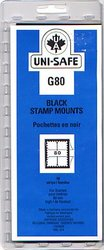 UNI-SAFE -  BLACK STAMP MOUNTS G80 (PACK OF 10)