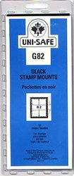 UNI-SAFE -  BLACK STAMP MOUNTS G82 (PACK OF 10)