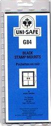 UNI-SAFE -  BLACK STAMP MOUNTS G84 (PACK OF 10)