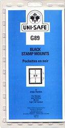 UNI-SAFE -  BLACK STAMP MOUNTS G89 (PACK OF 8)