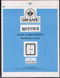 UNI-SAFE -  BLACK STAMP MOUNTS S217/170 (PACK OF 3)