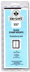 UNI-SAFE -  BLACK STAMP MOUNTS S57 (PACK OF 10)