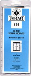 UNI-SAFE -  BLACK STAMP MOUNTS S66 (PACK OF 10)
