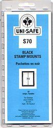 UNI-SAFE -  BLACK STAMP MOUNTS S70 (PACK OF 10)