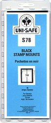 UNI-SAFE -  BLACK STAMP MOUNTS S78 (PACK OF 10)