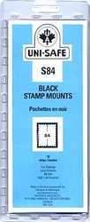 UNI-SAFE -  BLACK STAMP MOUNTS S84 (PACK OF 10)