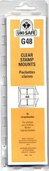 UNI-SAFE -  CLEAR STAMP MOUNTS G48 (PAQUET OF 20)