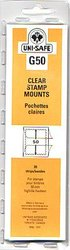 UNI-SAFE -  CLEAR STAMP MOUNTS G50 (PACK OF 20)