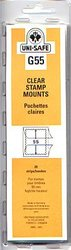 UNI-SAFE -  CLEAR STAMP MOUNTS G55 (PACK OF 20)