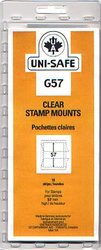 UNI-SAFE -  CLEAR STAMP MOUNTS G57 (PACK OF 10)