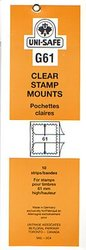 UNI-SAFE -  CLEAR STAMP MOUNTS G61 (PACK OF 10)
