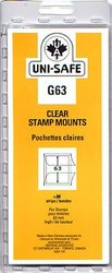 UNI-SAFE -  CLEAR STAMP MOUNTS G63 (PACK OF 10)